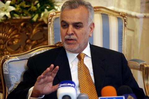 Iraqi Vice President Tariq al-Hashimi sp
