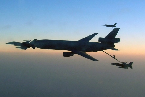Combat air refueling over Afghanistan