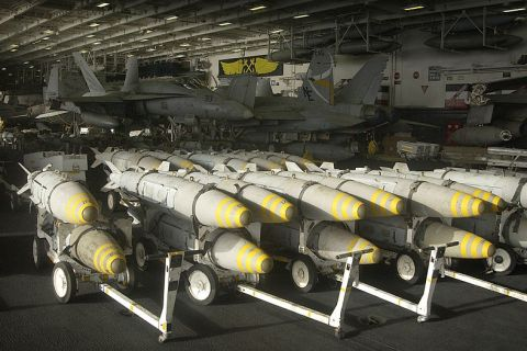 800px-US_Navy_030323-N-4142G-042_Bunker_Buster_bombs_are_staged_in_the_hangar_bay_aboard_USS_Constellation_(CV_64)