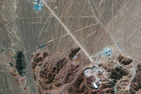Satellite photo of newly disclosed nuclear fuel facility near Qom