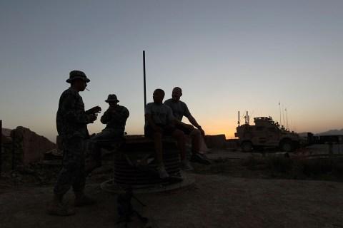 US Army Life On Rural Afghan Firebase In Kandahar Province