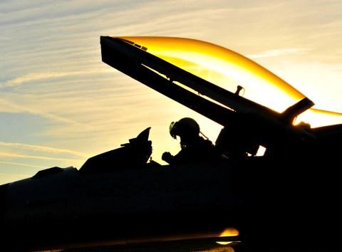 F-16s depart for Nordic Air Meet 2012