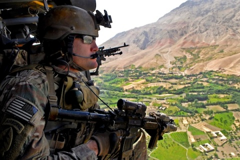 Aerial view of Afghanistan
