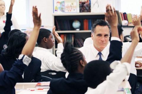 Romney Visits Philadelphia Charter School