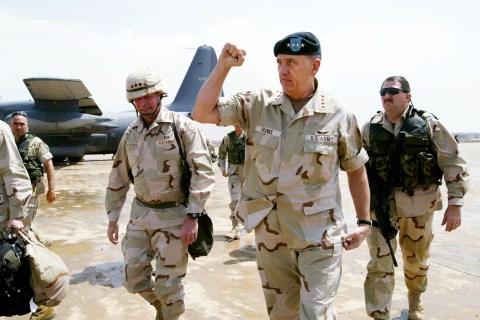 Franks Visits Baghdad To Meet With Commanders
