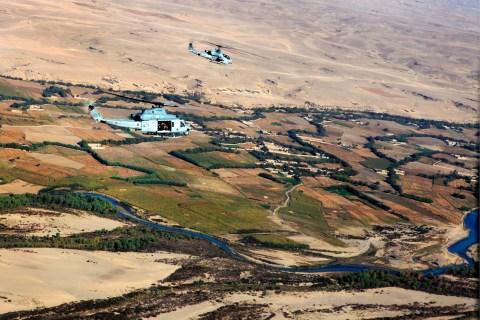 HMLA-469 Conducting Operations Over Helmand