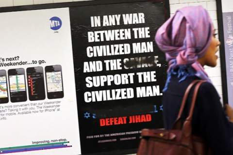 Controversial Anti-Muslim Ad Appears In New York Subway Stations