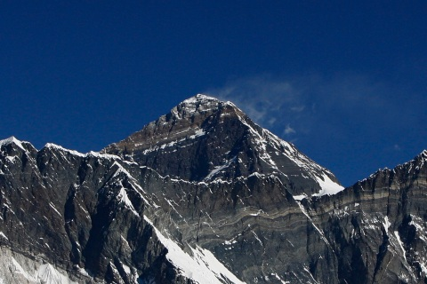 An aerial view the Mount Everest range s