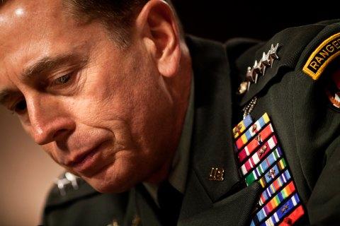 US Gen. David Petraeus, commander of the
