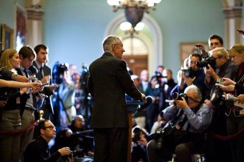 Harry Reid speaks on fiscal cliff