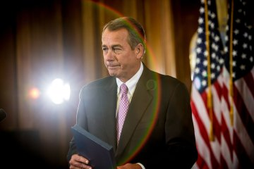 House Speaker Boehner Holds News Conference On Impending Fiscal Cliff