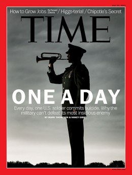image: TIME cover featuring story about military suicides