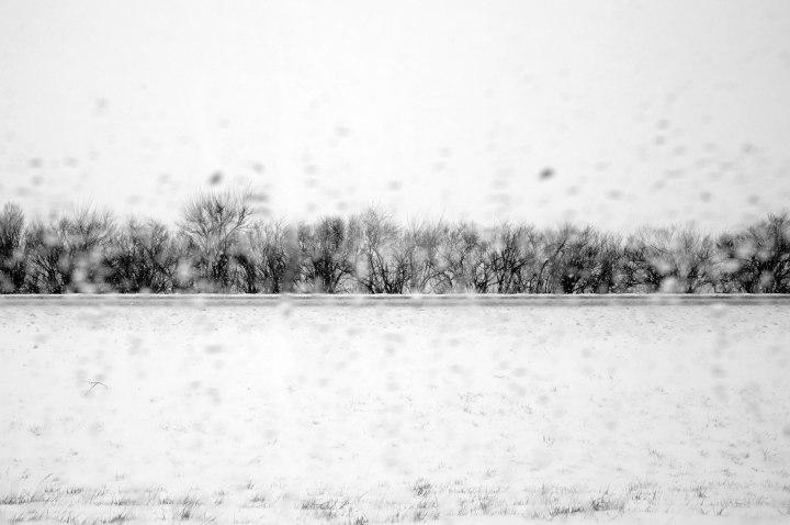 Image: A major blizzard along Interstate 65 north of Lafayette, Ind. on Dec. 26, 2012.