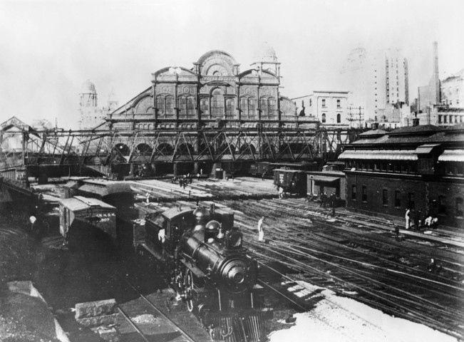 Grand Central Station while under construction looking south from 46th St., New York City,  1899.