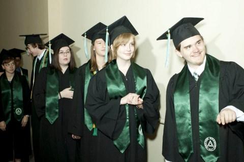 High School Students At Gatton Academy In Graduation
