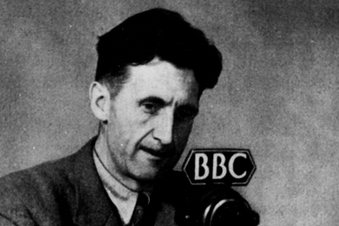 George Orwell At A Bbc Microphone