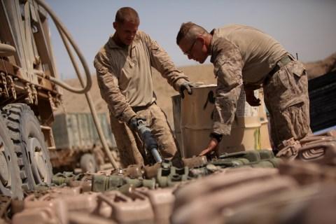 Marines keep rolling through dangerous terrain