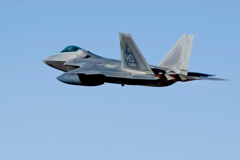 F-22 Raptors Take-Off