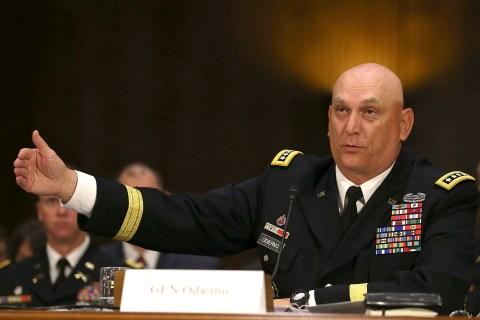 Army Secretary John McHugh And Army Chief Of Staff Odierno Testify At Senate Hearing On Defense Budget