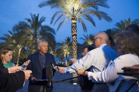 US Defence Secretary Chuck Hagel visits the UAE