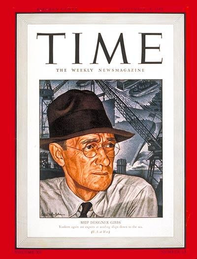 William F. Gibbs TIME Magazine Cover