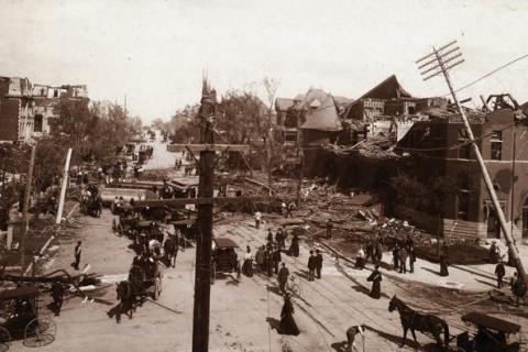 Aftermath of St. Louis Tornado