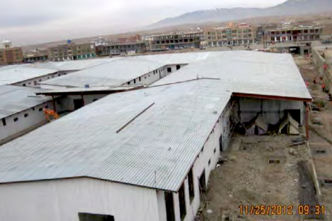 The new 100-bed provincial hospital under construction in Gardez, Afghanistan.