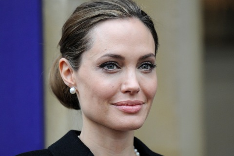 Angelina Jolie, arriving to the G8 Foreign Ministers summit in London, on April 11, 2013.