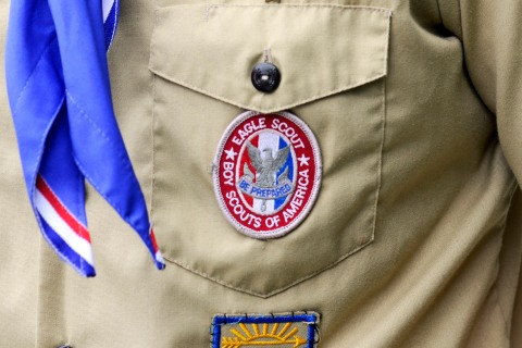 File photograph of an Eagle Scout patch