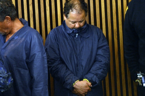 Ariel Castro is arraigned at Cleveland Municipal Court for the kidnapping of three women in Cleveland, May 9, 2013.
