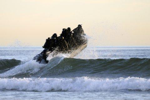 US Navy SEALs during maritime operations training in Coronado, CA