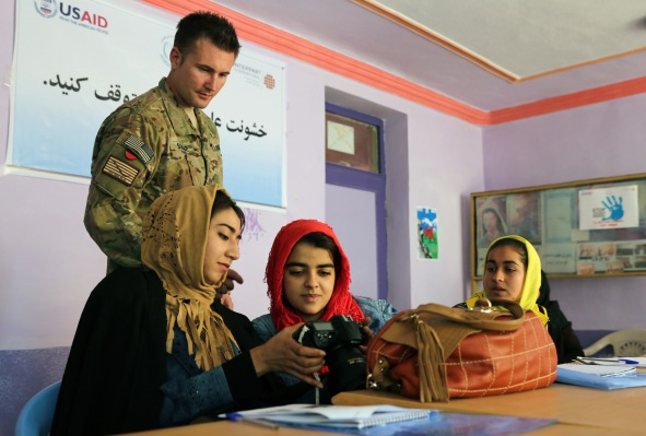 PRT Farah Conducts Photojournalism Training in Farah City