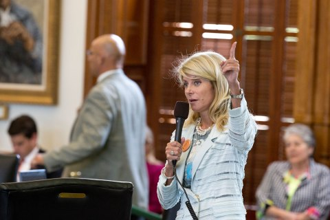 Texas Senator Wendy Davis begins a filibuster of SB 5 a bill that would tighten regulations on abortion providers in Texas, on June 26, 2013.