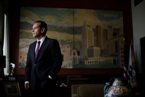 Los Angeles Mayor Antonio Villaraigosa in his office in Los Angeles, on June 19, 2013.