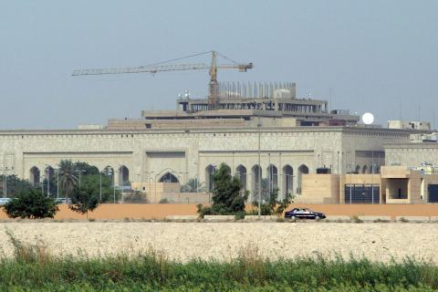 A picture shows the new US embassy compl
