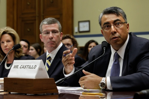 Braulio Castillo, president and CEO of Strong Castle, testifies on Capitol Hill in Washington