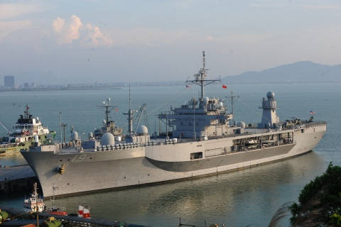 The US 7th Fleet's flagship USS Blue Rid