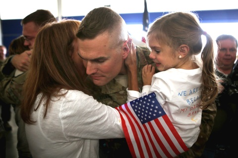 713th Engineer Company Returns From Deployment To Afghanistan