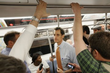 Anthony Weiner Greets NYC Commuters Day After Announcing Mayoral Bid