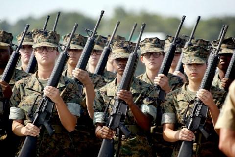 Women Train to Become U.S. Marines
