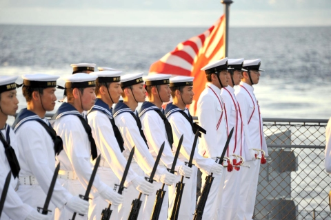Sailors in formation