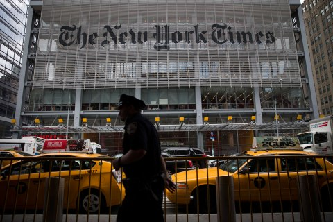 The New York Times Headquarters Ahead Of Earns Figures