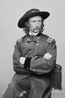 A portrait of George Armstrong Custer around 1900.