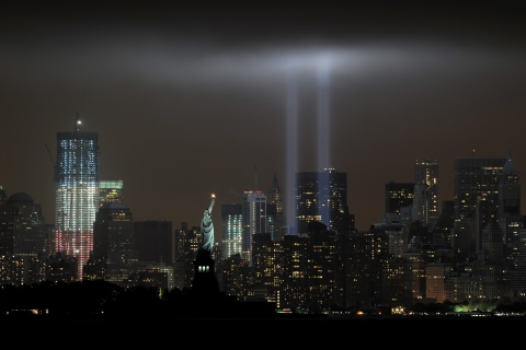 The annual ?Tribute in Light? memorial e