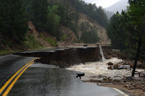 The mountain town of Jamestown, CO is devastated by the massive floods to hit 14 counties in CO.
