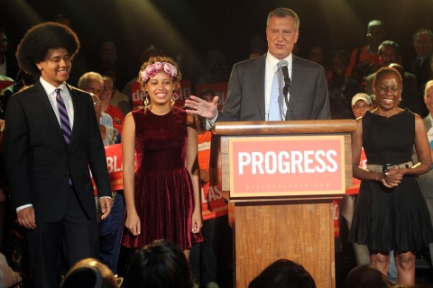 Bill de Blasio's Democratic Primary Celebration For The New York City Mayoral Race