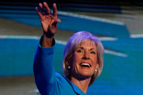 U.S. Secretary of Health and Human Services Sebelius addresses first session of the Democratic National Convention in Charlotte