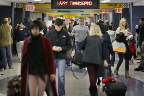 Travelers at LaGuardia Airport in New York, on Nov. 26, 2013.
