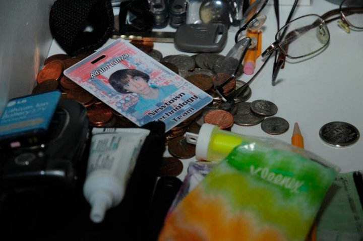 A photo of Sandy Hook Elementary school gunman Adam Lanza is seen in his bedroom in Newtown, Connecticut
