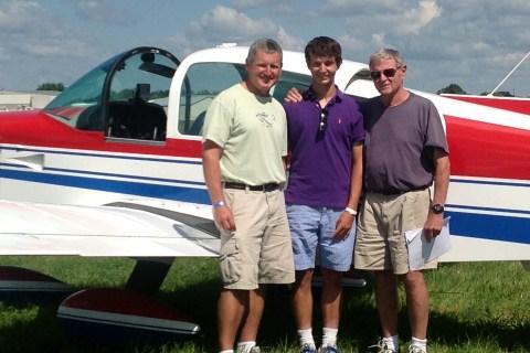 From left: Perry Inhofe, Inhofe's grandson Cole Inhofe and Senator Jim Inhofe in Oshkosh, Wis., on Aug. 1, 2013.